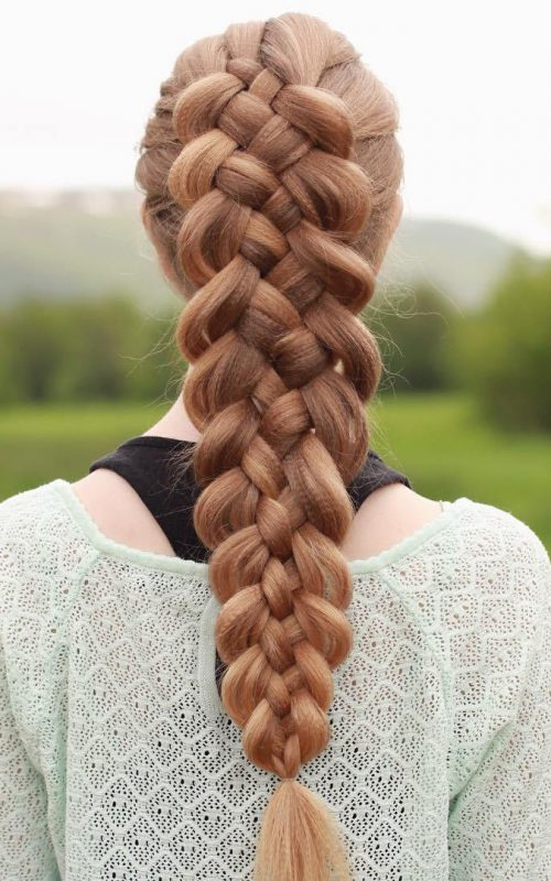 Textured Five Strand Braid
