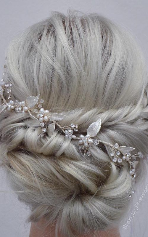 Twisted Updo with Accessory