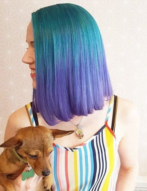 blue to purple ombre