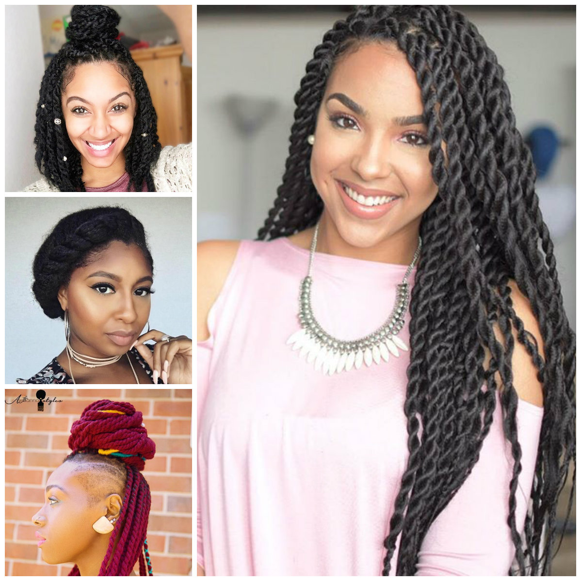 Twisted Hairstyles for natural Hair for 2017