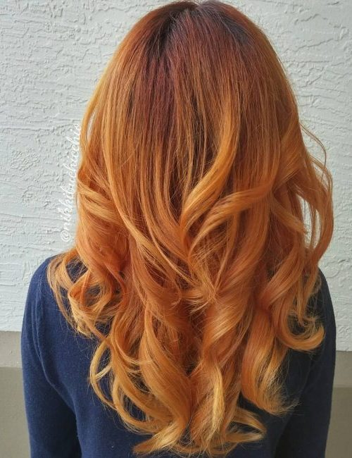 Auburn to Ginger Ombre