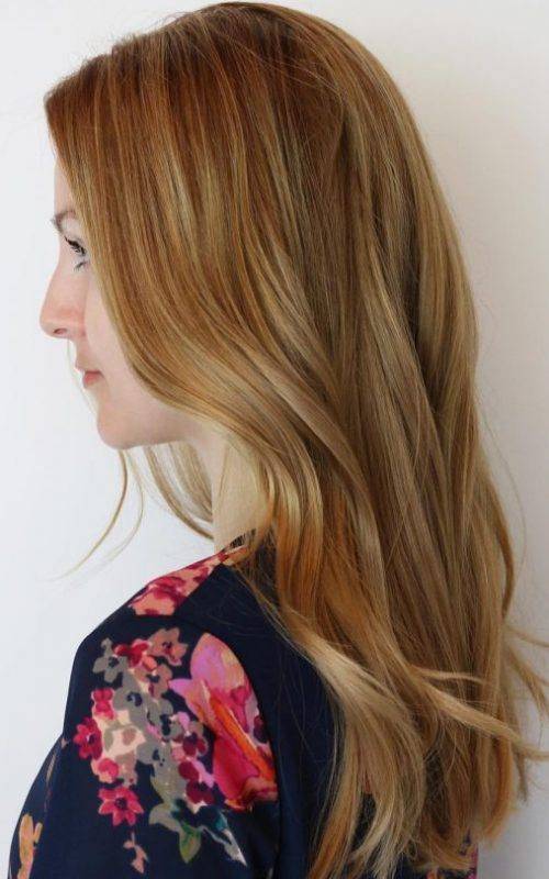 Beige and Golden Blonde Hair