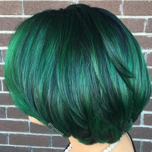 Dark Green Hair Color