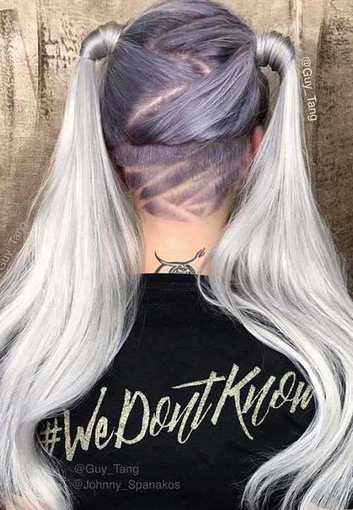 Geometric Nape Hair Tattoo