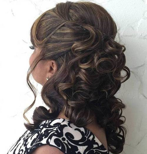 Half Updo for Older Women