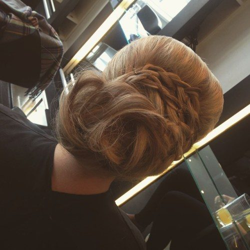 Low Bun with Braids