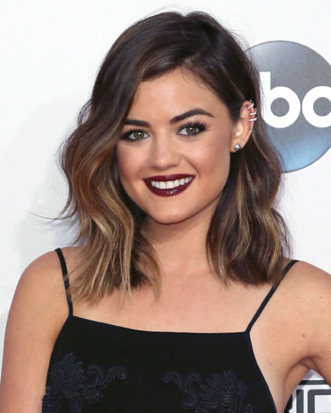 Lucy Hale Honey Hair Highlights