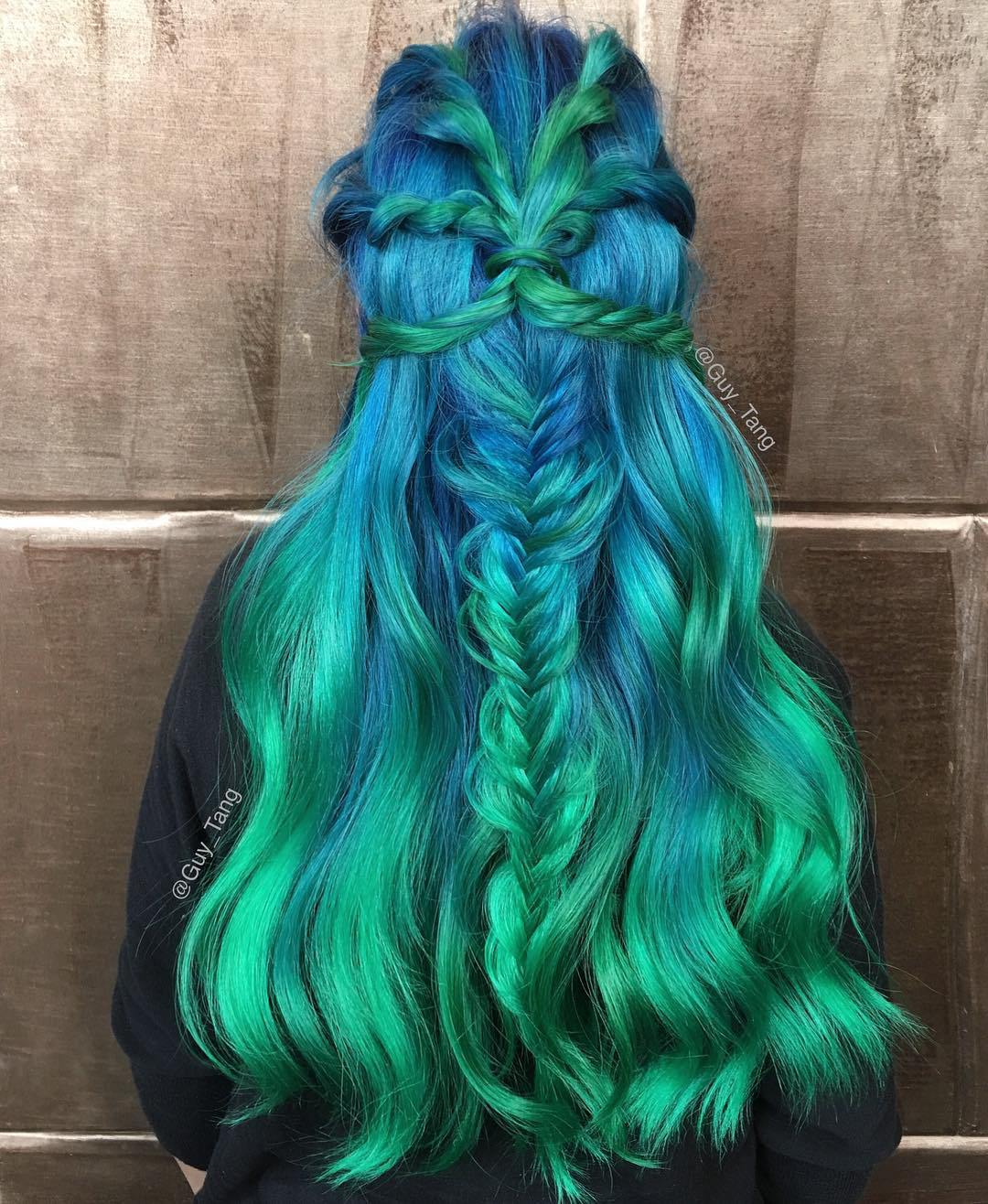 Green Hair Color Ideas For 2017 2019 Haircuts Hairstyles And Hair