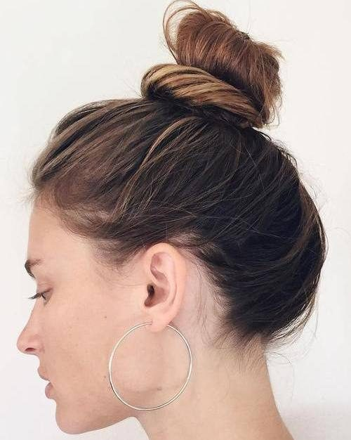 Messy Top Knot Hair