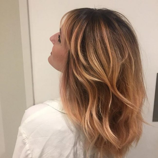 Strawberry Blonde Highlights with Ombre Balayage