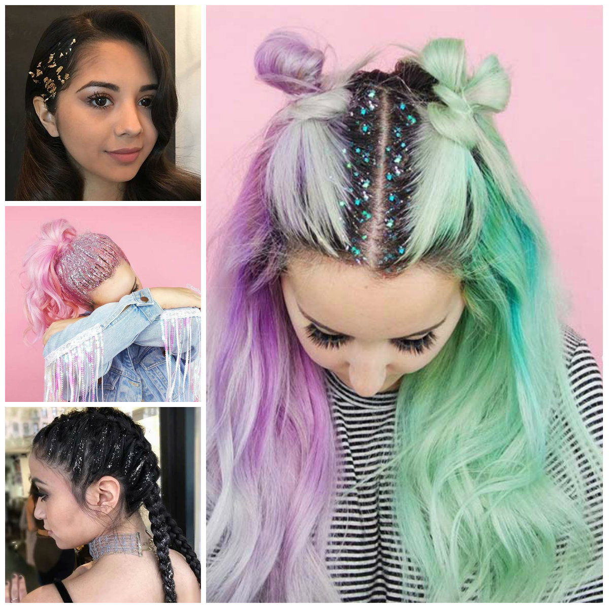 Incredible Glitter Hairstyle Ideas