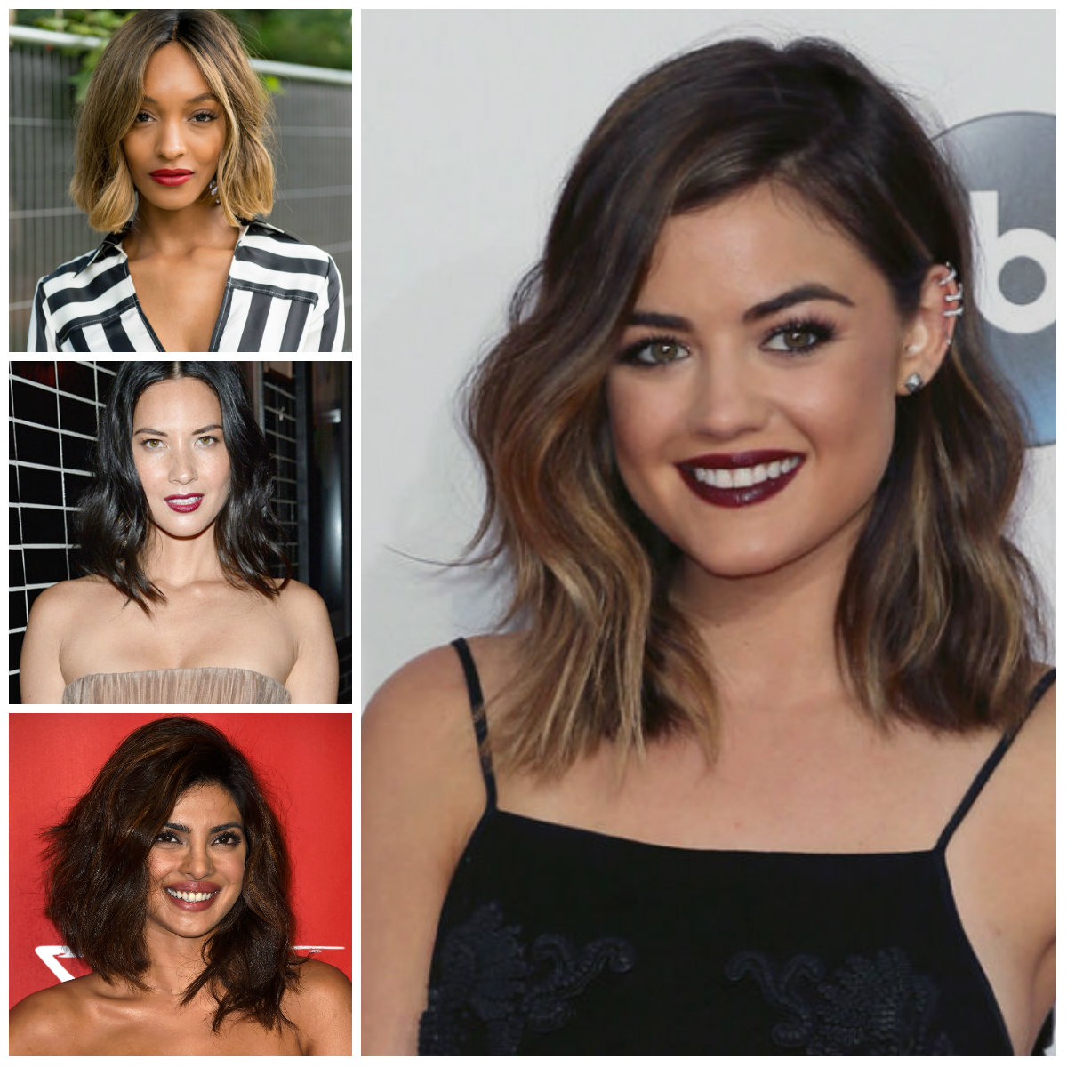 Lob Haircuts Brunettes Should Steal in 2017