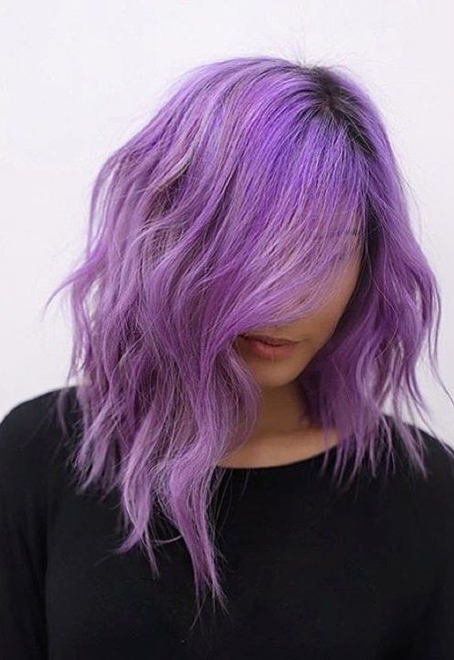 Chic Purple Asymmetric Lob
