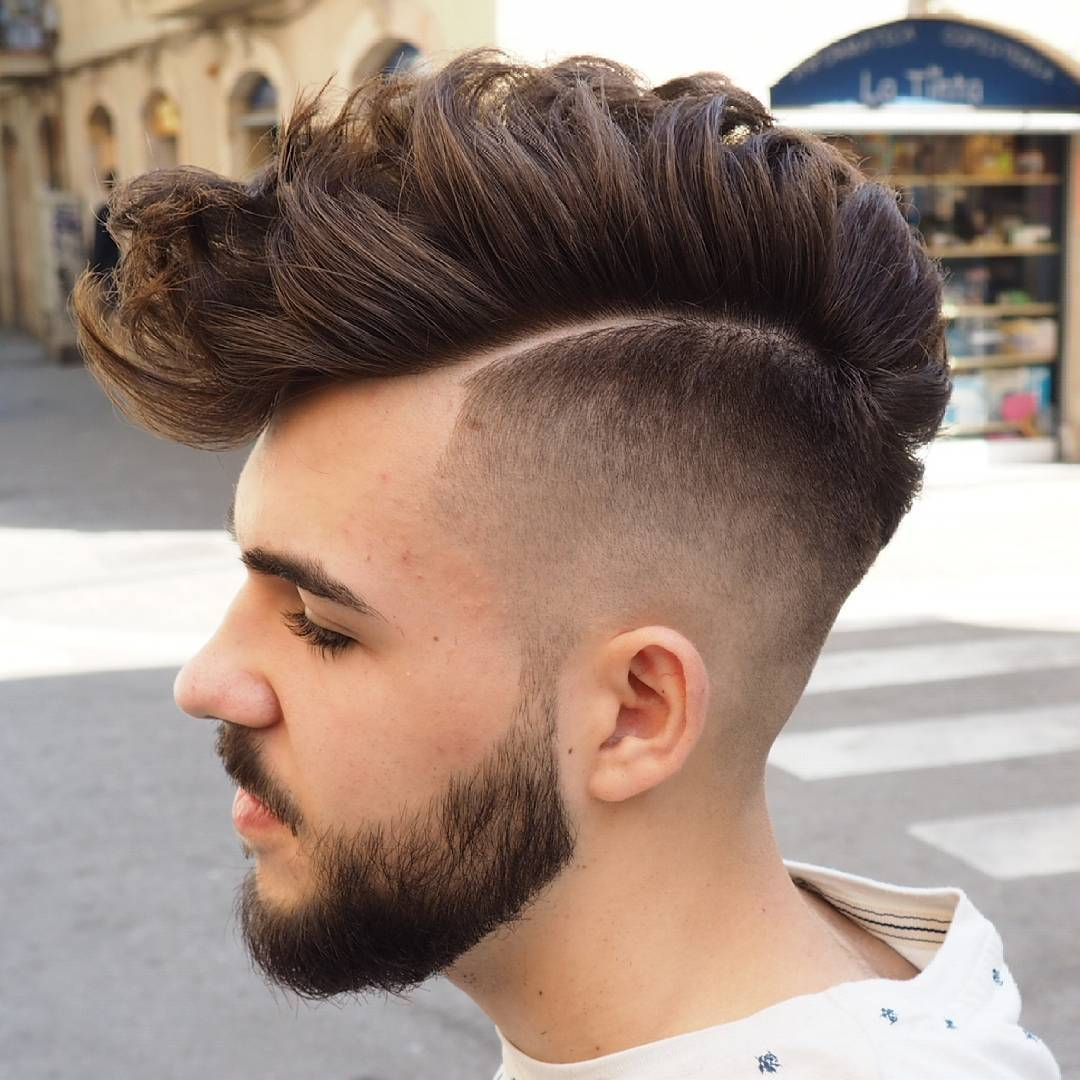 Faux Hawk with Taper Fade