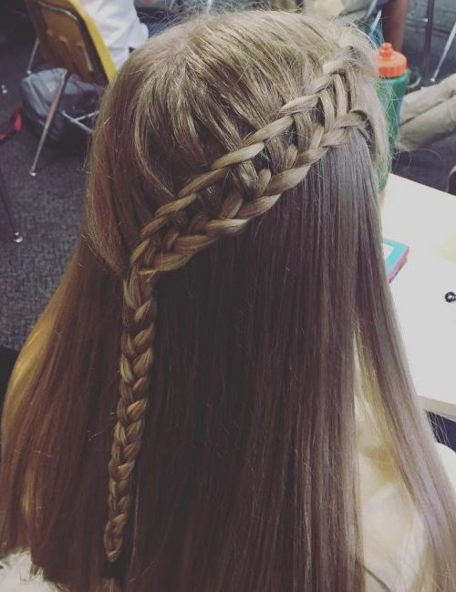 Lace Braid with Waterfall Technique