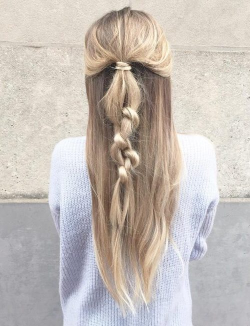 Messy Knotted Half up Half down Hairstyle