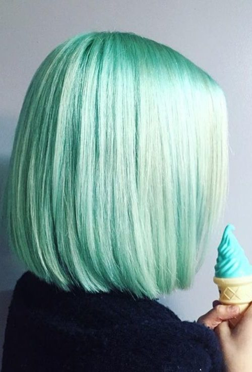 Metallic Mint Hair