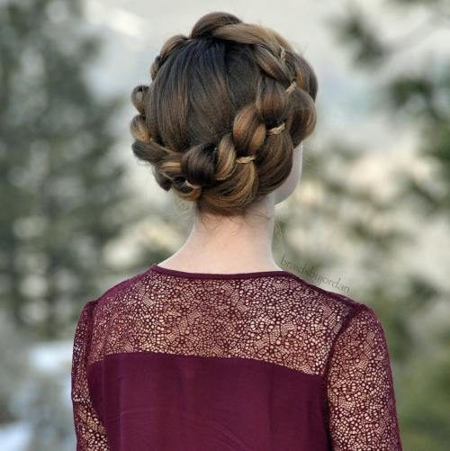 Four Strand Crown Braid