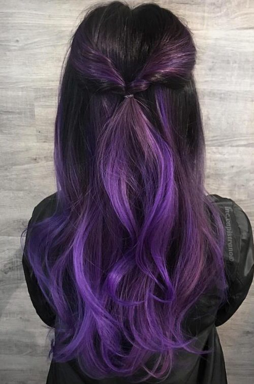 Black to Violet Hair Color