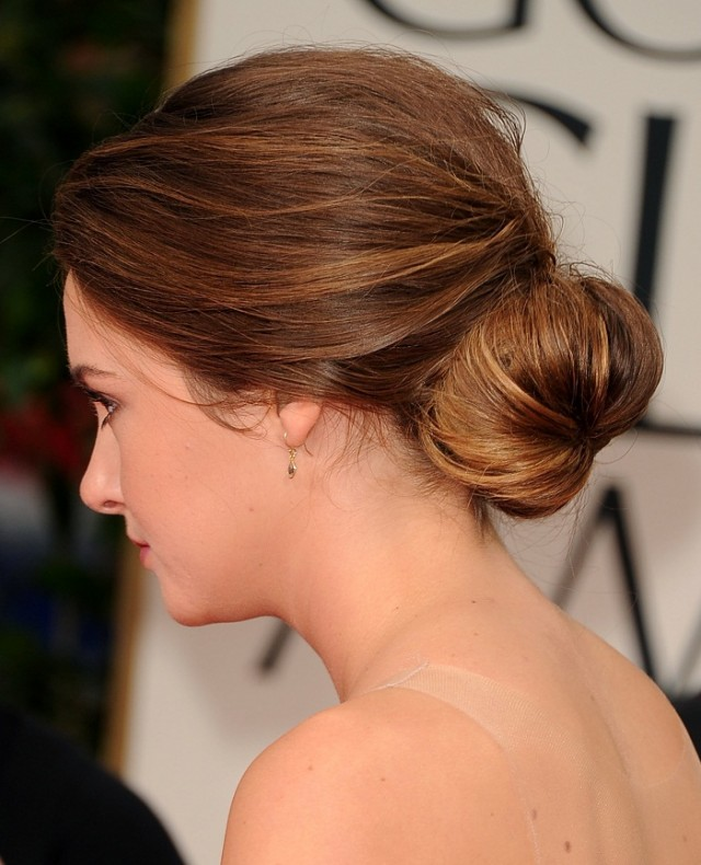 low bun hairstyle for summer 2017