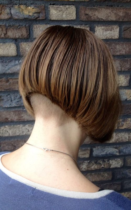 Undercut Stacked Bob
