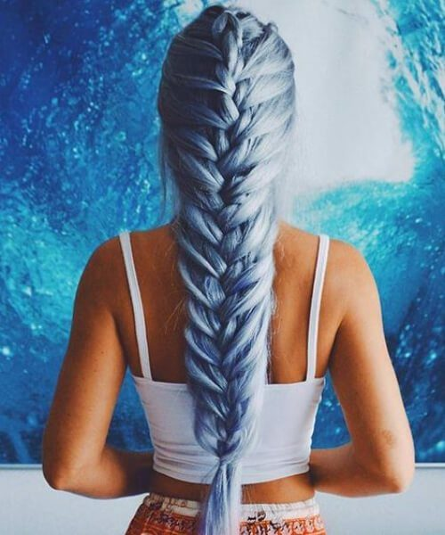 Jumbo French Braid Hairstyle