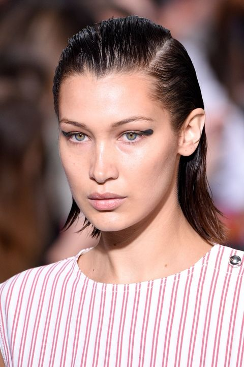 Bella Hadid's Slick Back Hair Look