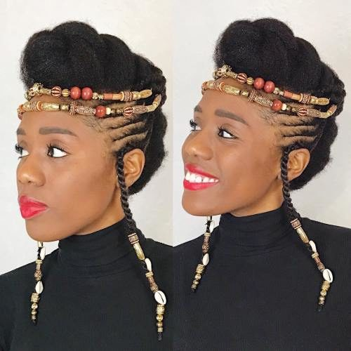 Vintage Inspired Braided Updo