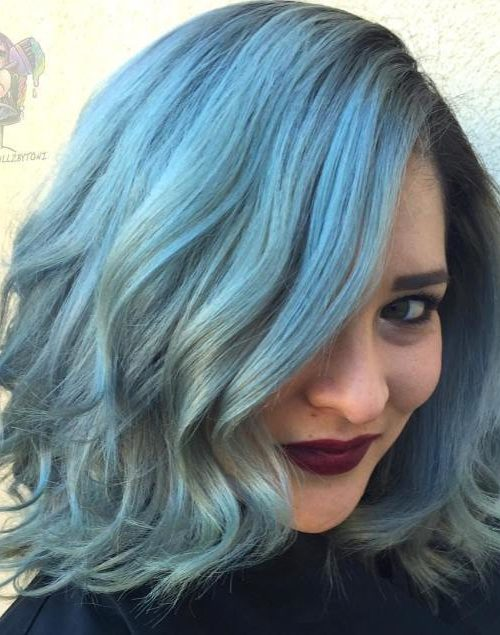 Blue Medium Length Hair