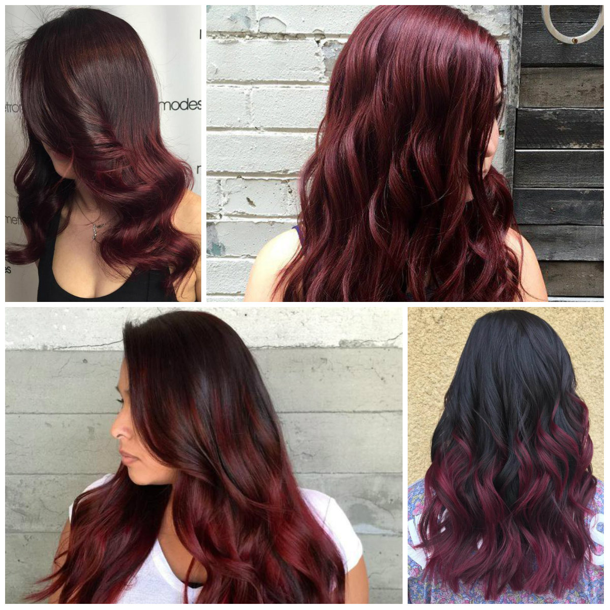 dark burgundy hair colors
