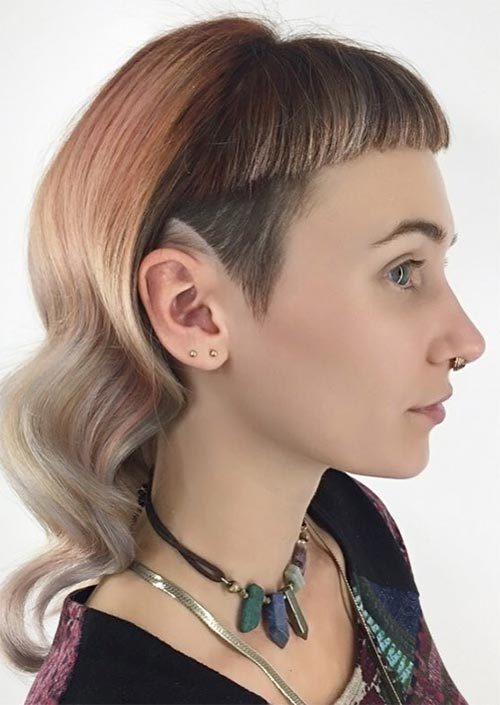 Long Undercut Hairstyles for Daring Women | 2019 Haircuts, Hairstyles and Hair Colors