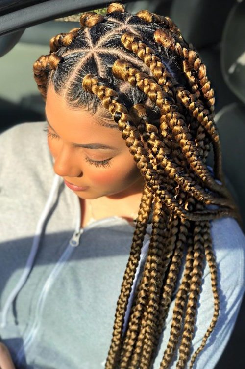 Triangle Braids Hairstyles New Way Of Rocking Box Braids