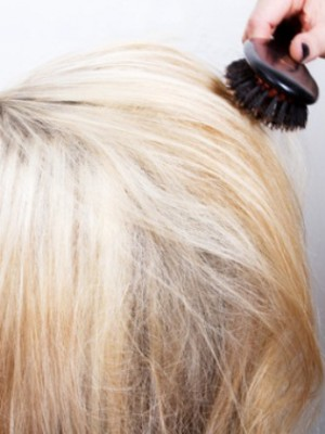 smoothed hair look