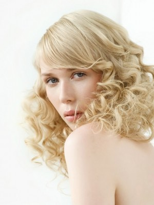 romantic curly hairstyle 2014