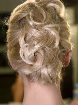 messy up-do hairstyle 2014