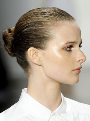 slicked bun hairstyles 2014