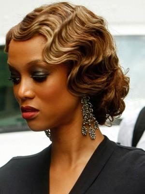 retro wavy hairstyle