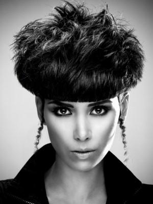 stylish short haircut for black women
