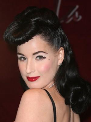 celebrity retro hairstyle