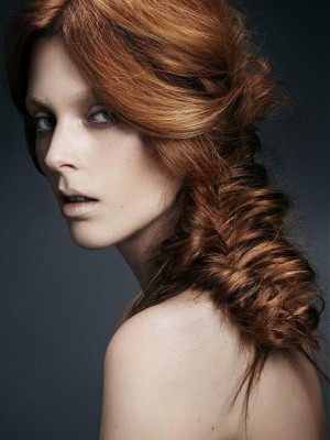 braided long hairstyle