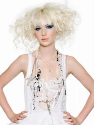 platinum blonde hairstyle