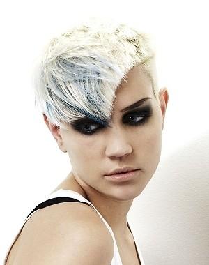 short asymmetric hairstyle