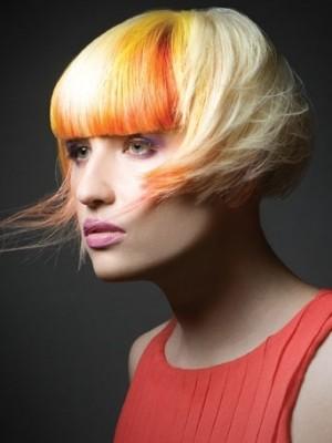 Golden orange hair color 2014