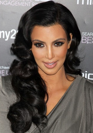 Kim kardashyan black hairstyles 2012