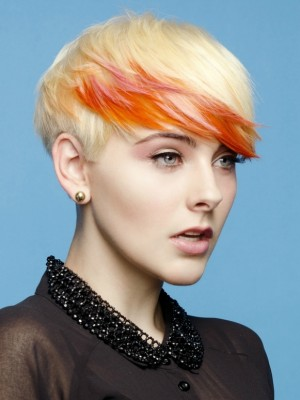 blonde and orange hair color