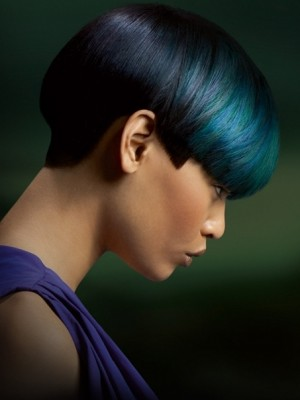 blue and green hair highlights
