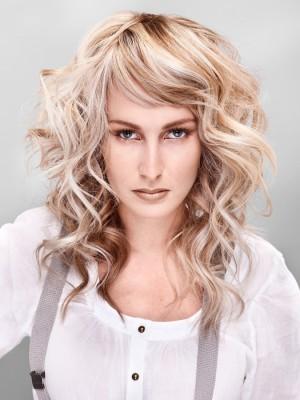 curly hair highlight