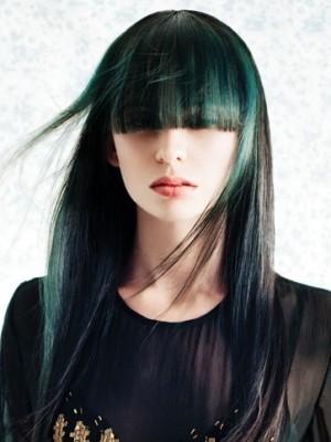 green hair highlights 2021