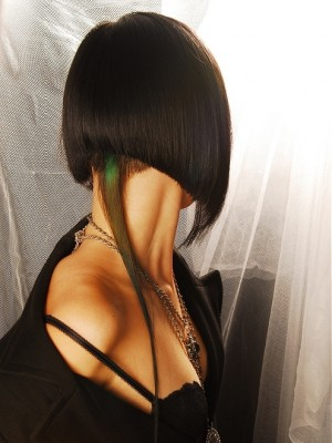 half long half medium hairstyle