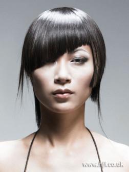 bold asymmetric hairstyle